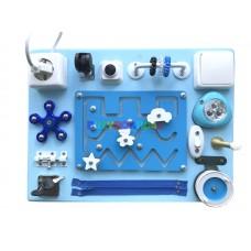 Бизиборд с лабиринтом (синий)
