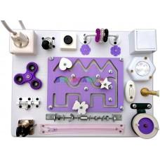 Бизиборд с лабиринтом (фиолетовый)