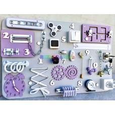 Бизиборд односторонний большой серо-фиолетовый