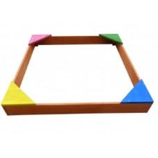 Песочница деревянная цветная малая