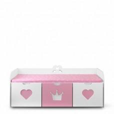 Скамейка для девочки с выкатными ящиками