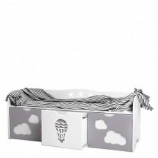 Скамейка для мальчика с выкатными ящиками